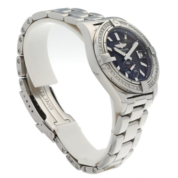 Breitling A37330 Galactic 36 Steel Black Dial Diamonds Automatic Womens Watch 114897552606 4