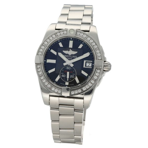 Breitling A37330 Galactic 36 Steel Black Dial Diamonds Automatic Womens Watch 114897552606 5