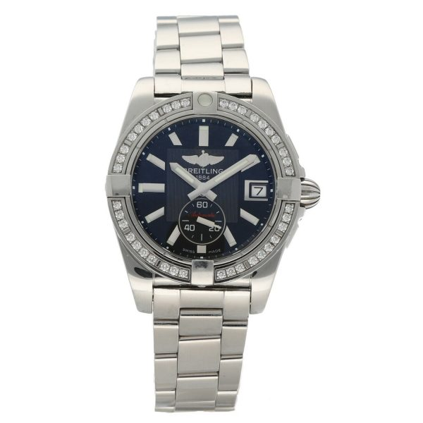 Breitling A37330 Galactic 36 Steel Black Dial Diamonds Automatic Womens Watch 114897552606
