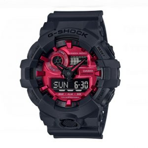 Casio GA700AR 1A Analog Digital Pink Dial Black Rubber 200M Quartz Mens Watch 114699286606