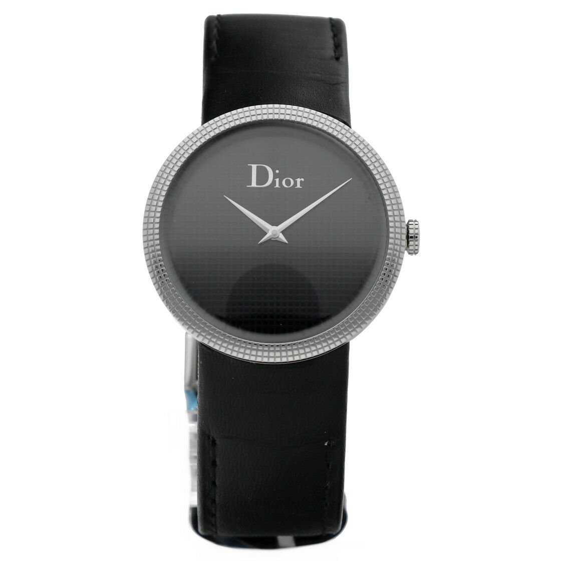 Christian Dior CD042110 Steel BlackBlack Leather 33mm Quartz Womens Watch 123557658476