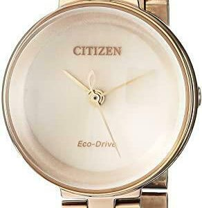 Citizen Eco Drive EW5503 83X Silhouette Rose Gold Steel 24mm Solar Womens Watch 124430831556