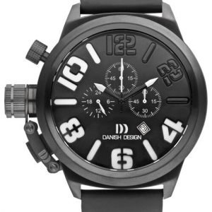 Danish Design IQ14Q917 50mm Chronograph Stainless Steel Leather Mens Watch 122235097276