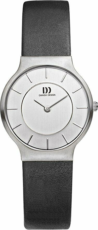 Danish Design IV12Q732 Silver Dial Stainless Steel Leather Quartz Womens Watch 112209752136