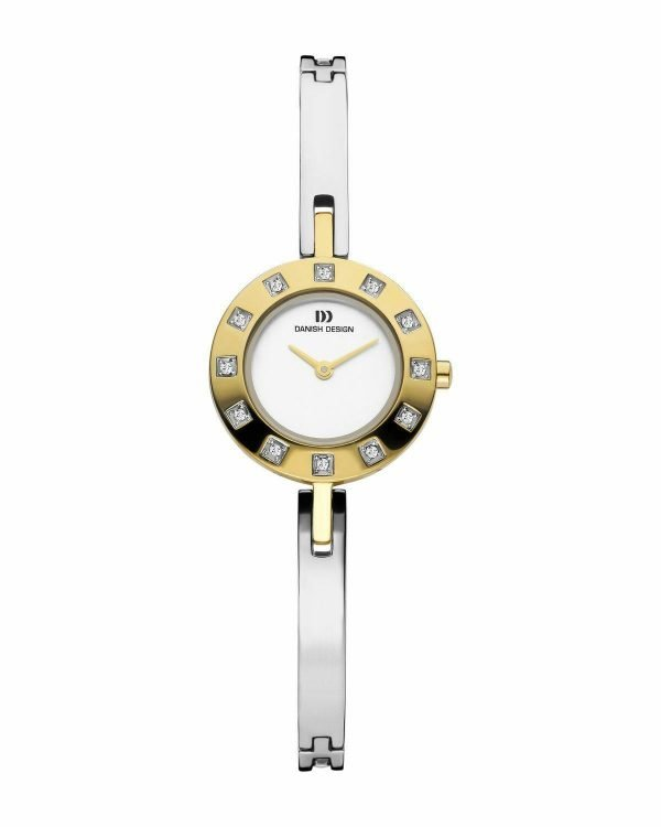 Danish Design IV65Q999 White Dial Two Tone Stainless Steel Crystal Womens Watch 112216502286