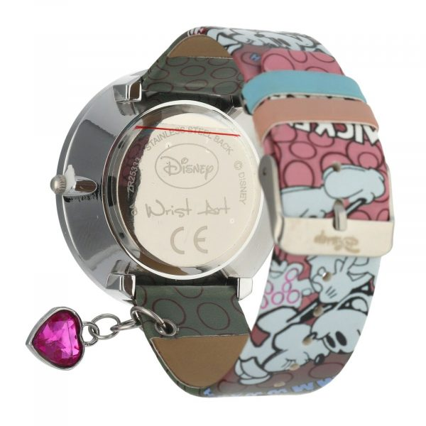 Disney ZR25333 Minnie Mouse 45mm Steel Leather Quartz Womens Watch 133652877516 3
