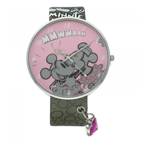 Disney ZR25333 Minnie Mouse 45mm Steel Leather Quartz Womens Watch 133652877516