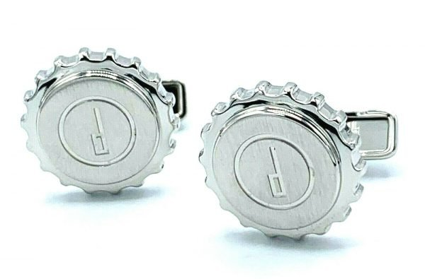 Dunhill Round Gear Engraved Dunhill Logo Stainless Steel Mens Cufflinks Gift 123797960726