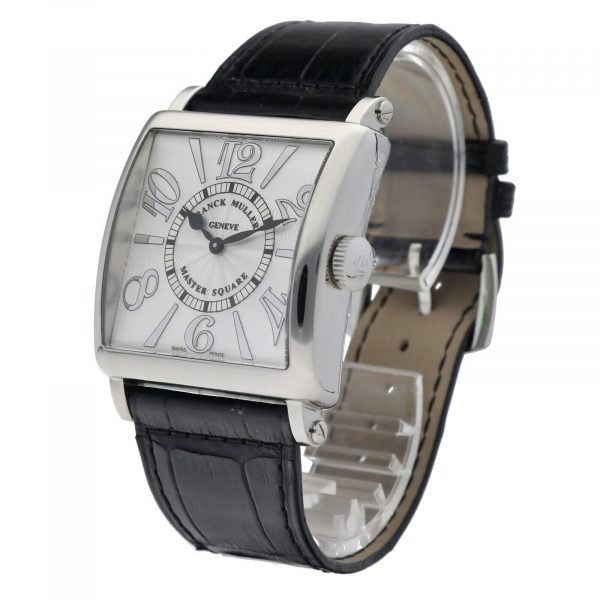 Franck Muller 6002 Master Square Relief Steel Leather Swiss Quartz Womens Watch 114578063266 2