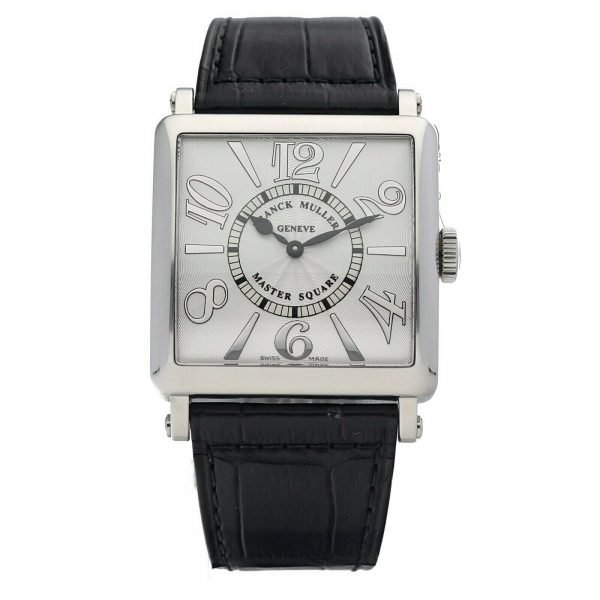 Franck Muller 6002 Master Square Relief Steel Leather Swiss Quartz Womens Watch 114578063266
