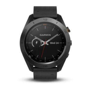 Garmin Vivoactive Approach S60 Black Ceramic Bezel with Black Leather Band 124267427886