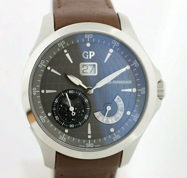 Girard Perregaux 49650 Traveller Large MoonPhases Leather Automatic Mens Watch 133577135186 2