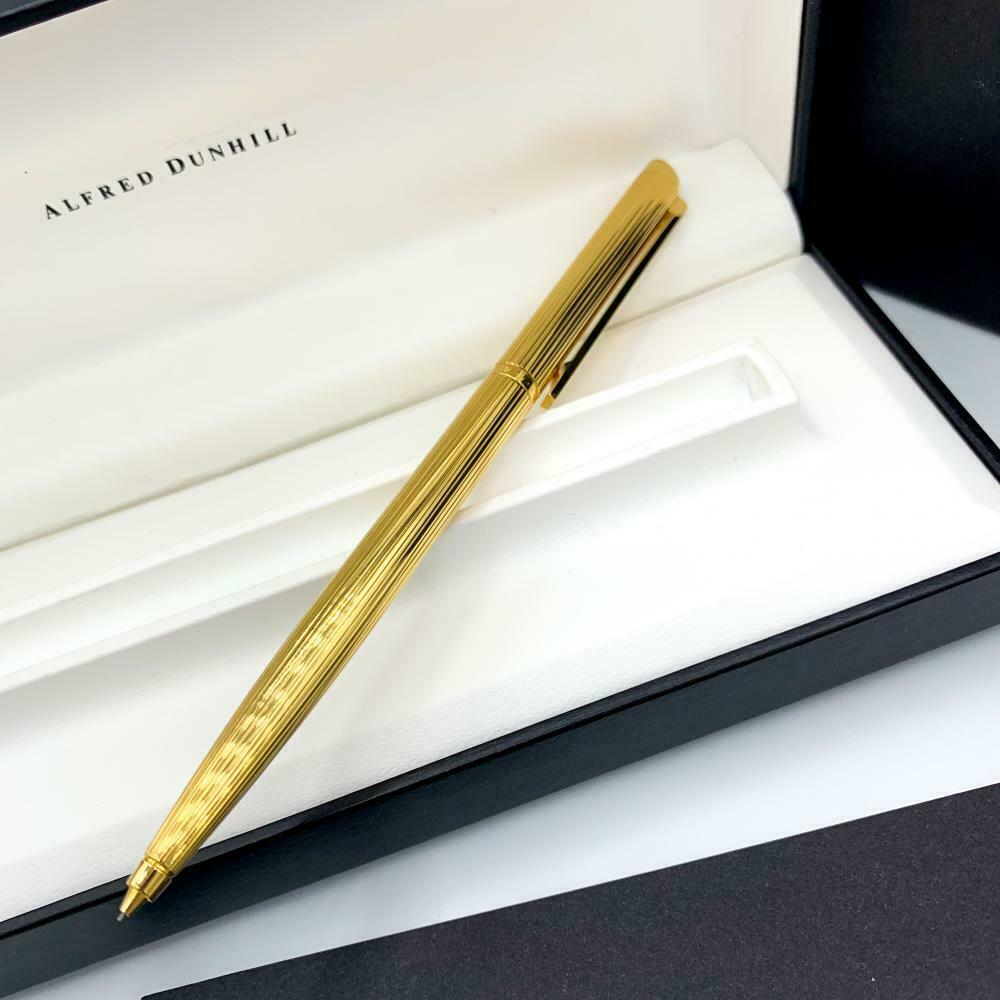 Alfred Dunhill Gold Plated Line Design Mechanical Pencil Eraser 55 Factory Box 124061475137