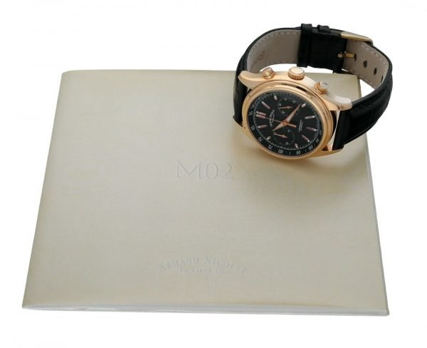Armand Nicolet AN7144 A Chronograph 18k Solid Rose Gold Automatic Mens Watch 133560699117 11