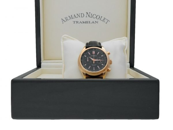 Armand Nicolet AN7144 A Chronograph 18k Solid Rose Gold Automatic Mens Watch 133560699117 12