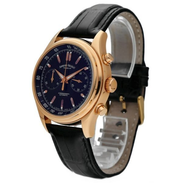 Armand Nicolet AN7144 A Chronograph 18k Solid Rose Gold Automatic Mens Watch 133560699117 2