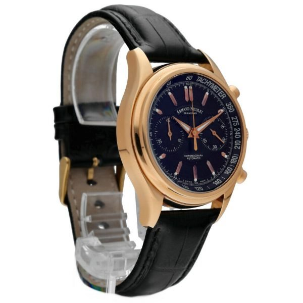 Armand Nicolet AN7144 A Chronograph 18k Solid Rose Gold Automatic Mens Watch 133560699117 4