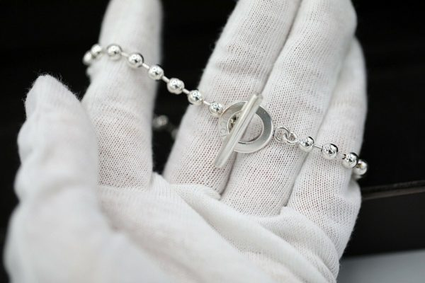 Authentic GUCCI Sterling Silver 925 Ball Chain 21 Size Womens Bracelet 85 133091018837 5