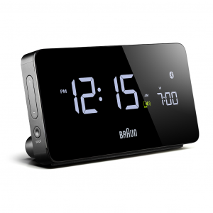 Braun BNC020BK Black Digital LCD Multi Functional Bluetooth Quartz Alarm Clock 133525214267