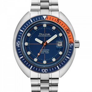 Bulova Devil Diver 96B321 Blue Dial Stainless Steel 44mm Automatic Mens Watch 124350355297