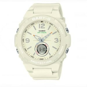 Casio Baby G BGA260 7A WRIOBAR AnalogDigital 100M Cream Rubber Ladies Watch 114699211157