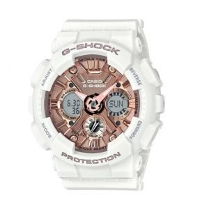Casio Baby G GMAS120MF7A2 Analog Digital Pink White Rubber Quartz Ladies Watch 124588240637