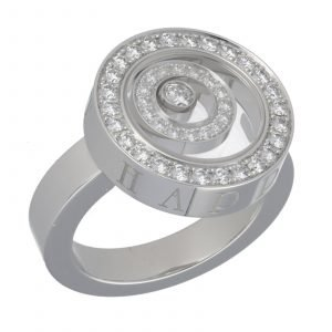 Chopard 825422 1111 18k White Gold 750 Happy Spirit Diamond Womens Ring Size 7 124523883417