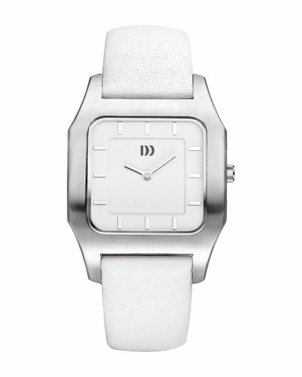 Danish Design IV12Q1005 White Dial Stainless Steel White Leather Womens Watch 132014812257