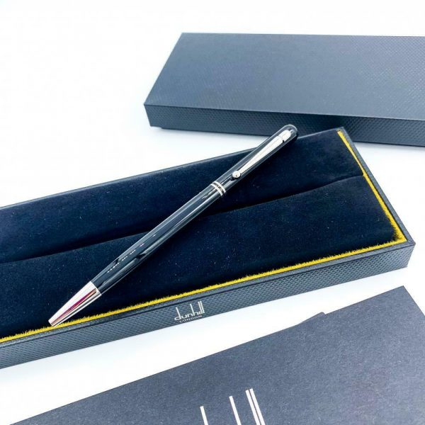 Dunhill Black Lacquer Silver Finish 55 Ballpoint Pen 94 mm Thickness 113933081747 7