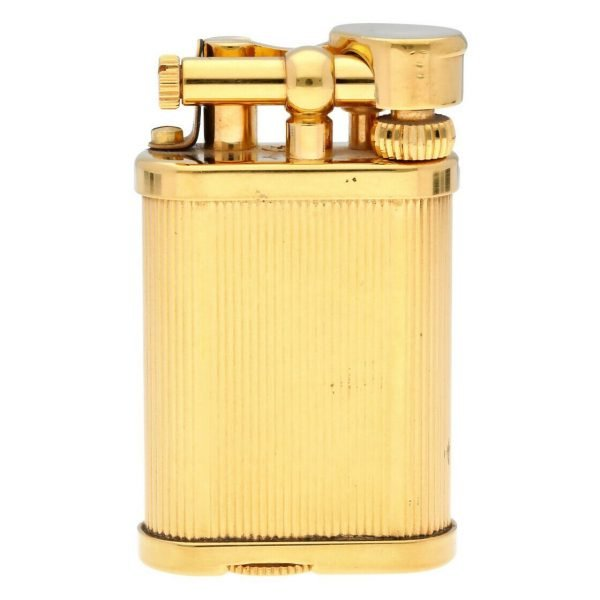Dunhill Gold Plated Stripped 11 x 2 Mens Lighter Gift England 114496941887 2