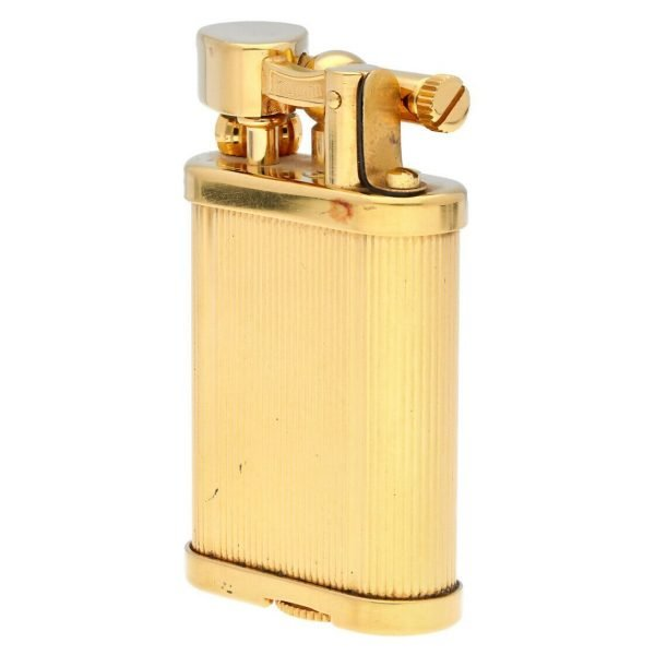 Dunhill Gold Plated Stripped 11 x 2 Mens Lighter Gift England 114496941887 3
