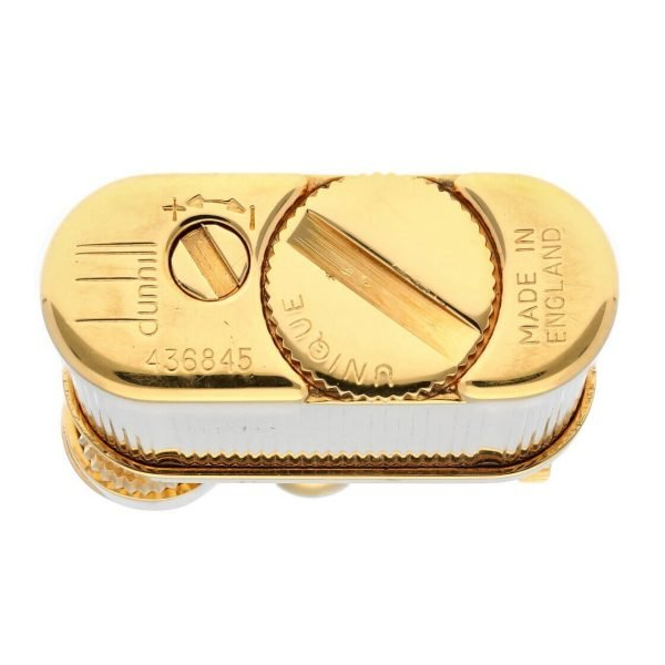Dunhill Gold Plated Stripped 11 x 2 Mens Lighter Gift England 114496941887 6