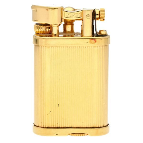 Dunhill Gold Plated Stripped 11 x 2 Mens Lighter Gift England 114496941887