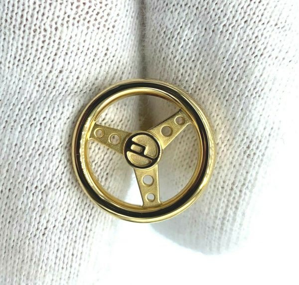 Dunhill JSE5266K Round Gold Plated Sterling Wheel Mens Cufflinks Gift 133083032887 5