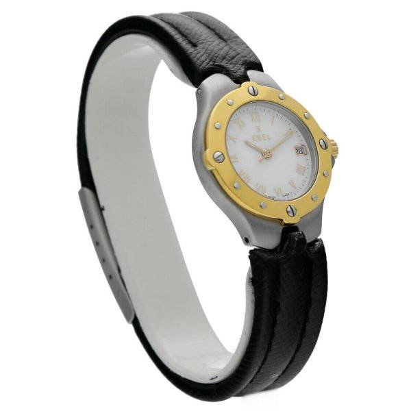Ebel Classic Wave E6087621 18K Stainless Steel Leather 28mm Quartz Ladies Watch 114155215287 4