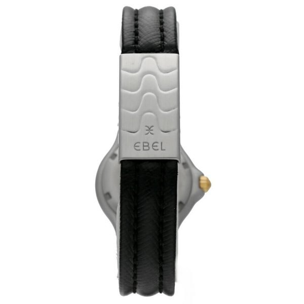 Ebel Classic Wave E6087621 18K Stainless Steel Leather 28mm Quartz Ladies Watch 114155215287 5