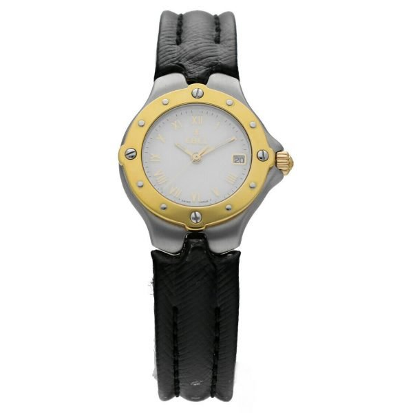 Ebel Classic Wave E6087621 18K Stainless Steel Leather 28mm Quartz Ladies Watch 114155215287