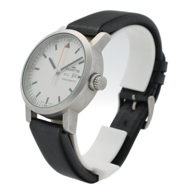 Fortis Eco Spacematic 62622159 Steel 40mm Leather Swiss Quartz Mens Watch 133797291117 3