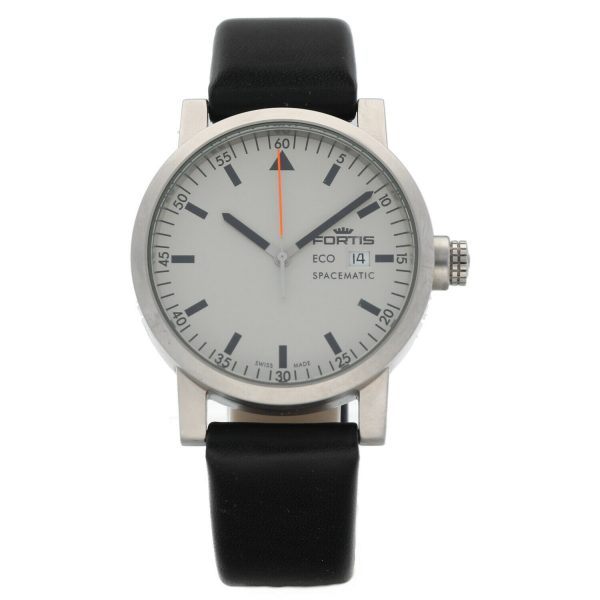 Fortis Eco Spacematic 62622159 Steel 40mm Leather Swiss Quartz Mens Watch 133797291117