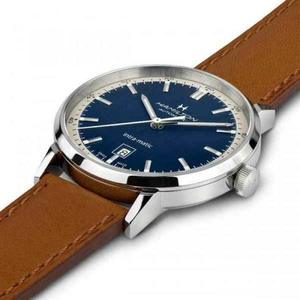 Hamilton H38425540 American Classic Intra Matic 40mm Steel Automatic Mens Watch 124828375107 2