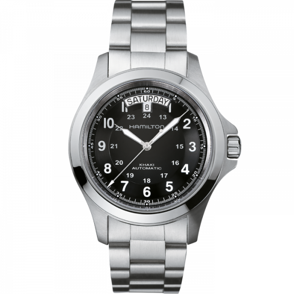 Hamilton H64455133 Khaki Field King 40mm Stainless Steel Automatic Mens Watch 124828400567