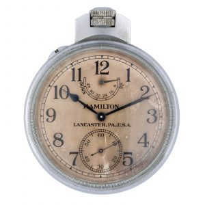 Hamilton LancasterPA USA Model 22 Base Metal 21 Jewel 71mm Deck Pocket Watch 114593758367