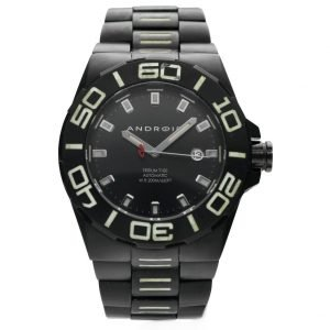 Android AD671 Tritium T100 Black PVD Stainless Steel 48mm Automatic Mens Watch 133657331488