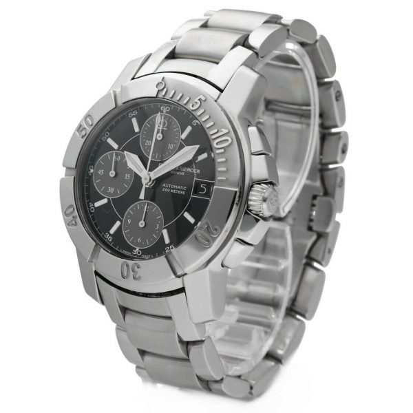 Baume Mercier Capeland Chronograph Stainless Steel Swiss Automatic Wrist Watch 114472959458 2