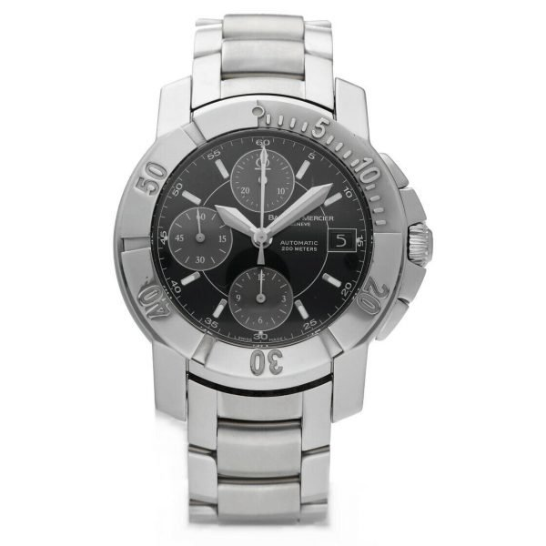 Baume Mercier Capeland Chronograph Stainless Steel Swiss Automatic Wrist Watch 114472959458