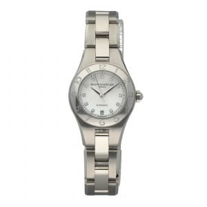 Baume Mercier Linea M0A10113 Diamond MOP Steel 27mm Automatic Ladies Watch 133654360718