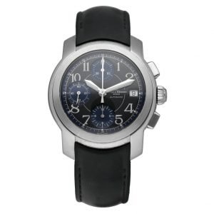 BaumeMercier MV045216 Capeland Chrono Blue Dial Rubber Automatic Mens Watch 133532222678