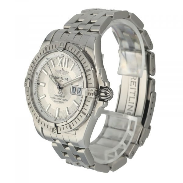 Breitling A49350 Windrider Cockpit Steel Silver Dial 42 Automatic Wrist Watch 133658550868 2