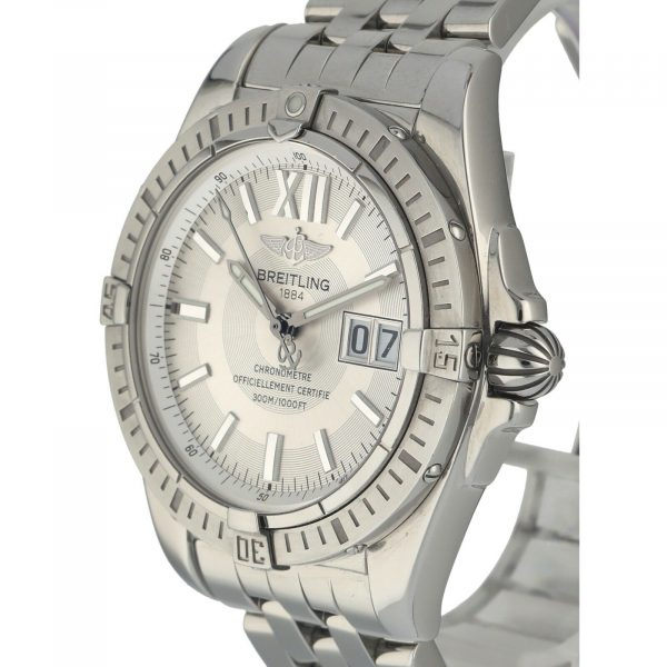 Breitling A49350 Windrider Cockpit Steel Silver Dial 42 Automatic Wrist Watch 133658550868 3