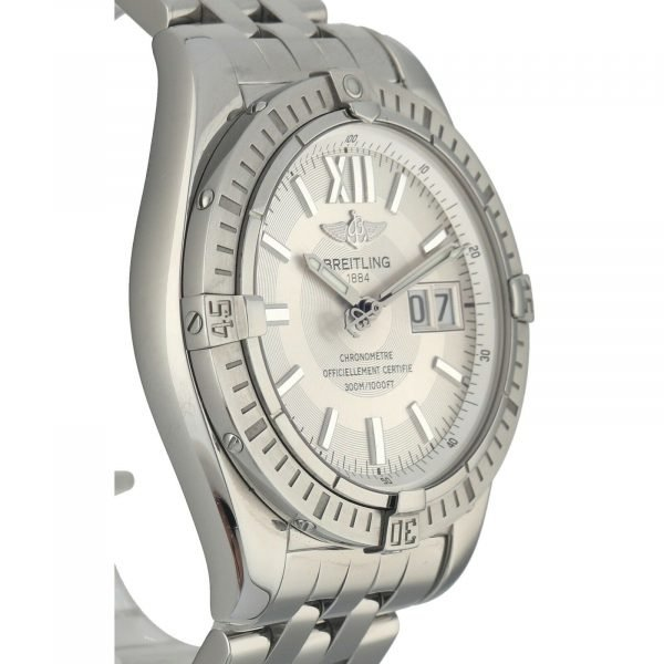 Breitling A49350 Windrider Cockpit Steel Silver Dial 42 Automatic Wrist Watch 133658550868 4